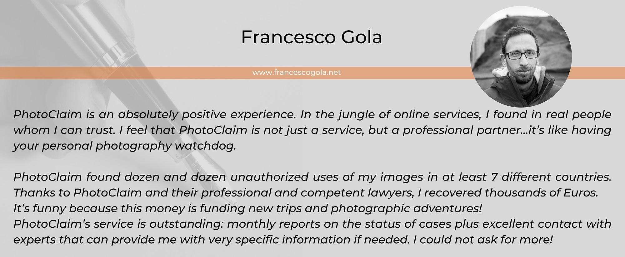 Francesco Gola photographer