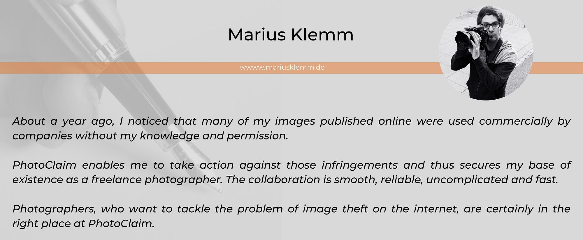 Marius Klemm photographer