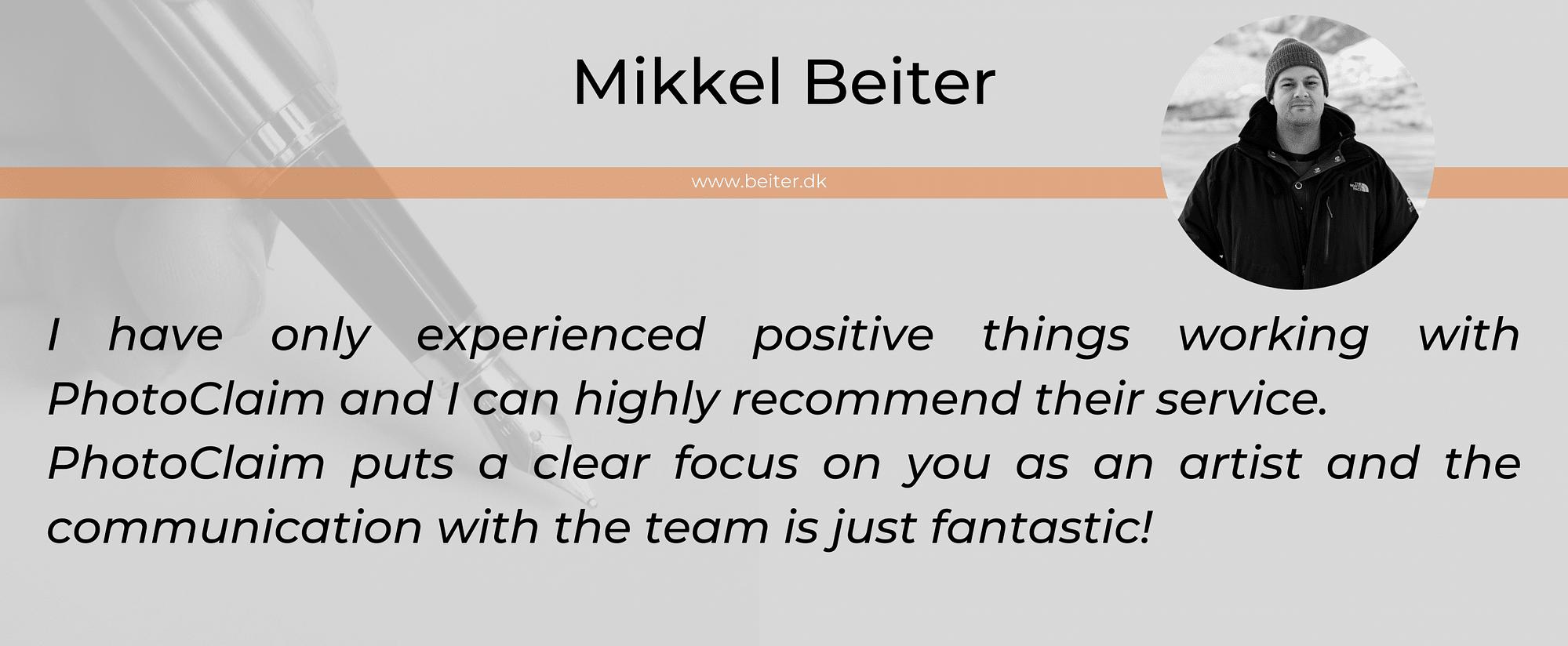 Mikkel Beiter testimonial